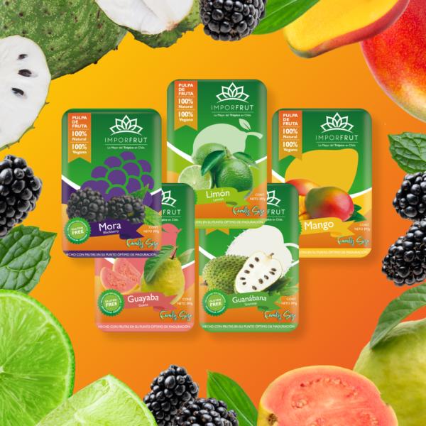 pulpa de frutas tropicales